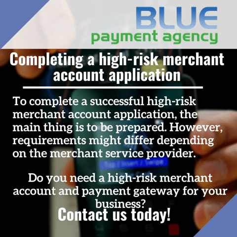 successful high-risk merchant account application - Blue Payment Agency - Quote Image