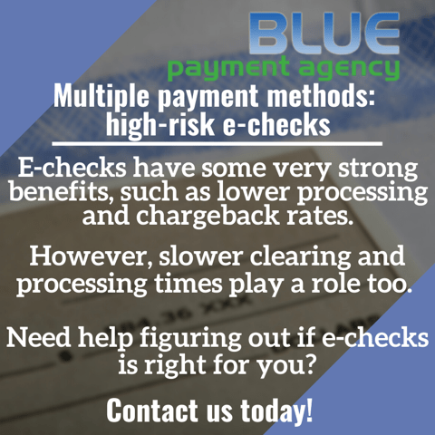 Multiple payment methods_ high-risk e-checks - Blue Payment Agency - Quote Image